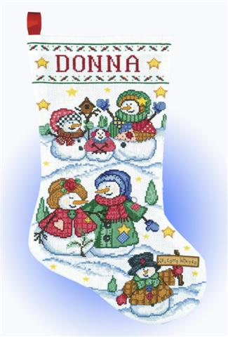 click here to view larger image of Welcome Winter (counted cross stitch kit)