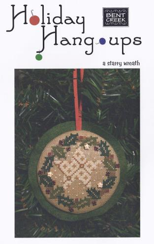 click here to view larger image of Holiday Hang-ups - A Starry Wreath (counted cross stitch kit)