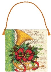 click here to view larger image of French Horn Ornament (counted cross stitch kit)