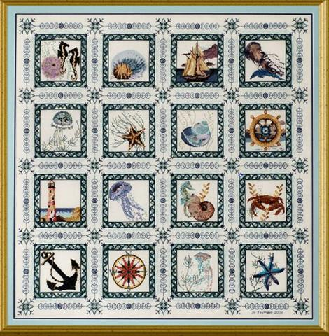 click here to view larger image of Sea Quilt (chart)
