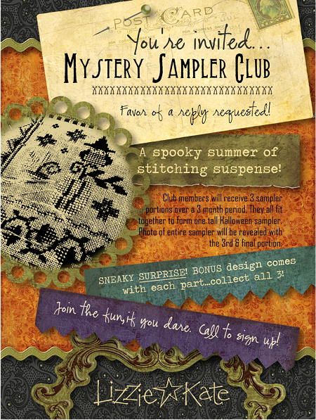 click here to view larger image of Mystery Sampler Club Part 2 with Bonus Design  (chart)