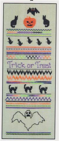 click here to view larger image of Bats & Cats Sampler (chart)