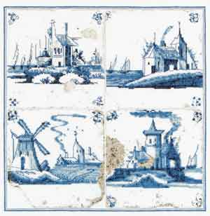 click here to view larger image of Antique Tiles - Villages - Aida (counted cross stitch kit)