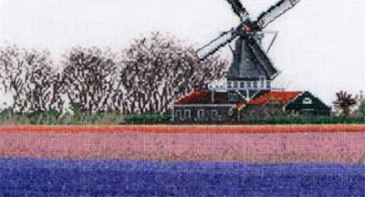 click here to view larger image of Hyacinth Field - Aida (counted cross stitch kit)