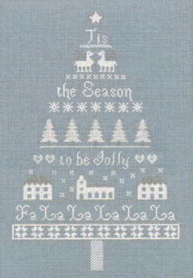 click here to view larger image of White Christmas Tree (Kit) (counted cross stitch kit)