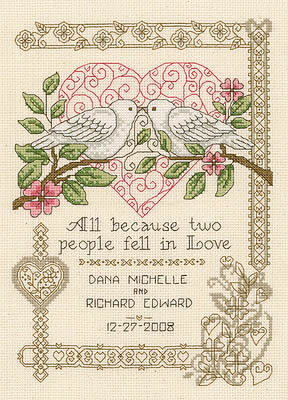 click here to view larger image of All Because - Kit (counted cross stitch kit)