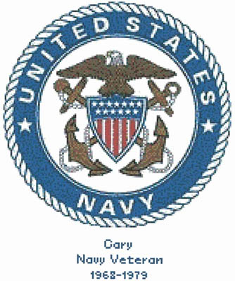click here to view larger image of U.S. Navy Emblem - Kit (counted cross stitch kit)