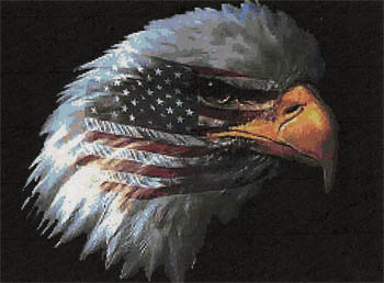 click here to view larger image of American Pride - Kit (counted cross stitch kit)