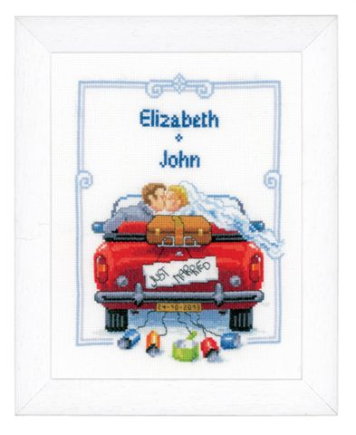 click here to view larger image of Just Married (counted cross stitch kit)