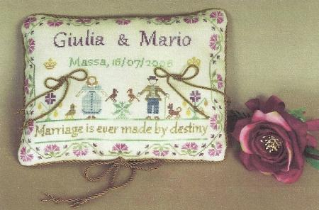 click here to view larger image of Wedding Rings Pillow (chart)