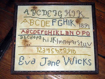 click here to view larger image of Eva Wicks Sampler (chart)
