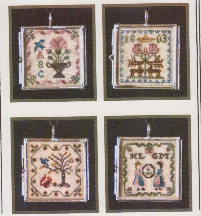 click here to view larger image of Milady's Sampler Pendants II - Kit (counted cross stitch kit)