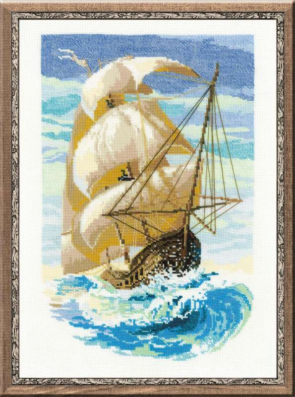 click here to view larger image of Sailboat (counted cross stitch kit)