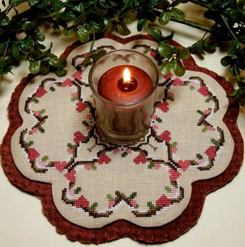 click here to view larger image of Little Candle Mats - Wild Hearts (chart (special))