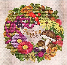 click here to view larger image of Autumn Wreath (chart)