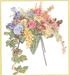 click here to view larger image of Bouquet (counted cross stitch kit)