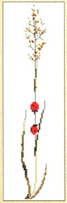 click here to view larger image of Flower With Lady Bugs (counted cross stitch kit)