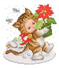 click here to view larger image of Christmas Kitten Baby (chart)