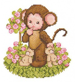 click here to view larger image of Monkey Baby In The Rosegarden (chart)