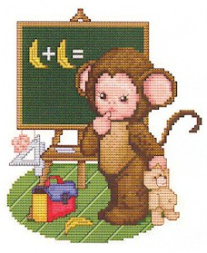click here to view larger image of Monkey Baby Goes To School (chart)