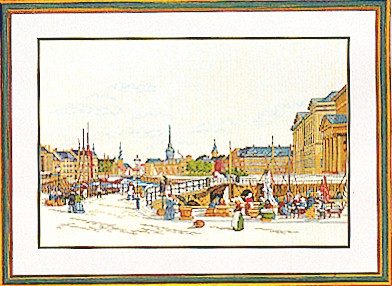 click here to view larger image of City By Waterfront (counted cross stitch kit)