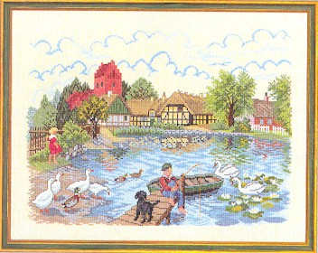 click here to view larger image of Fishing Pond (counted cross stitch kit)