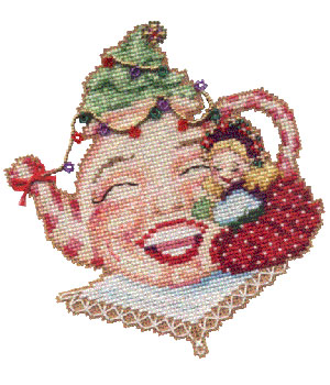 click here to view larger image of Jolly Teapot - Teatime With Mrs Claus (chart)