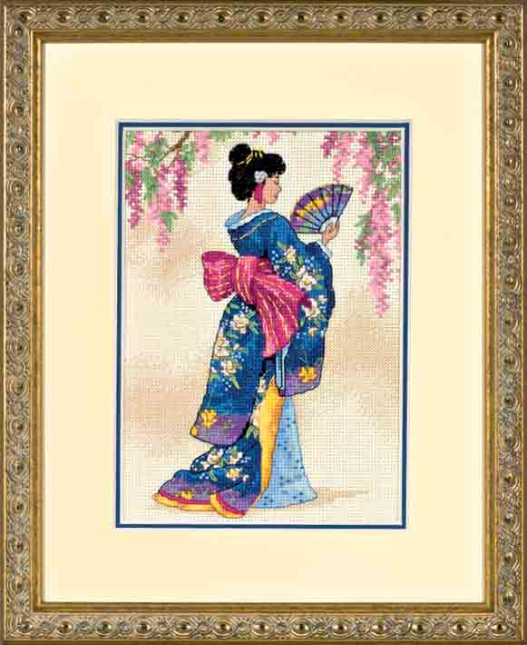click here to view larger image of Elegant Geisha (counted cross stitch kit)