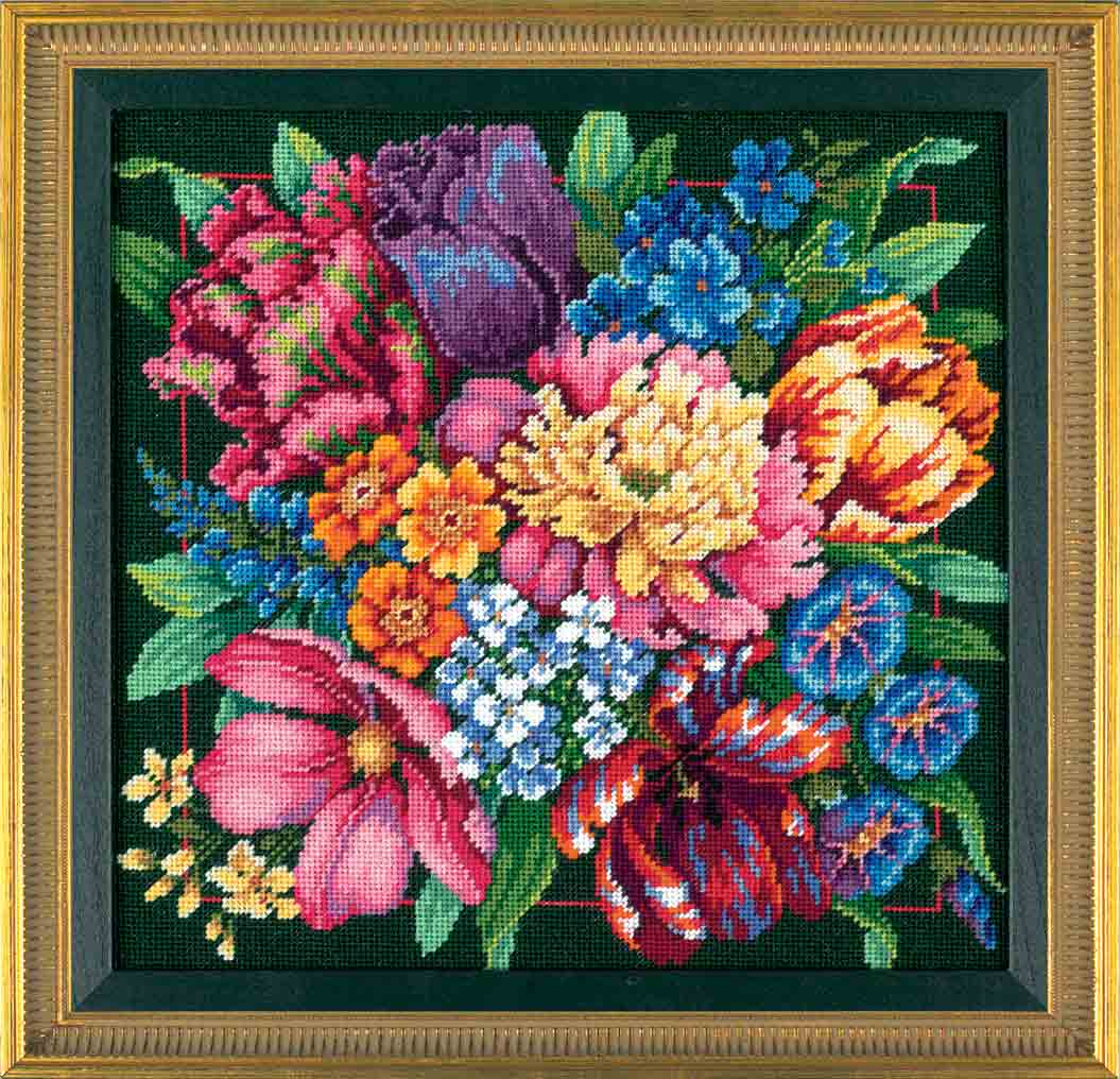 click here to view larger image of Floral Splendor (needlepoint)