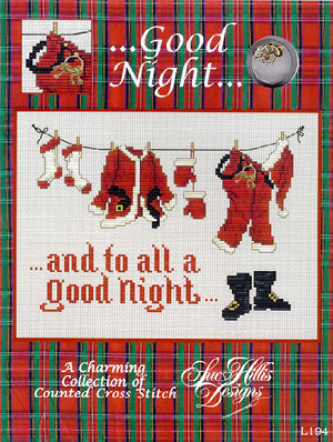 click here to view larger image of Good Night (w/chm)  (chart with charms/buttons)