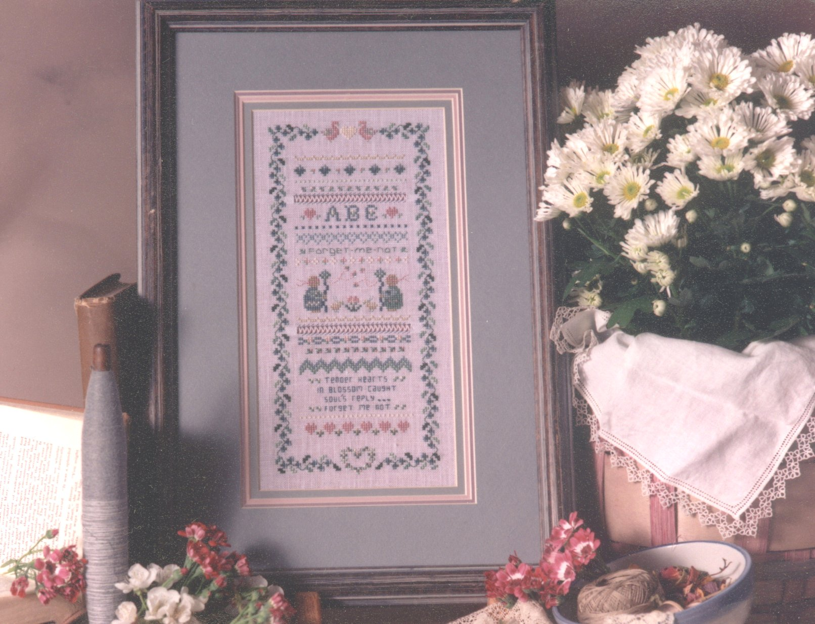 click here to view larger image of Forget Me Not  (counted cross stitch kit)