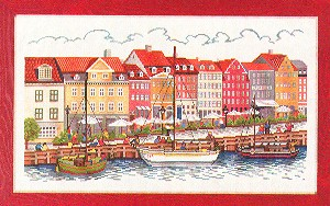 click here to view larger image of Ships in Harbor (counted cross stitch kit)
