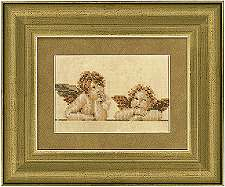 click here to view larger image of Cherub / Two Raphael Characters (counted cross stitch kit)