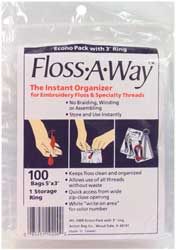 click here to view larger image of Floss-a-way bags 100 w/ring (accessory)
