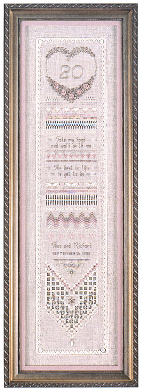 click here to view larger image of Heirloom Anniversary Sampler (chart)