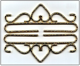 click here to view larger image of Brass Bell Pull, Hammered Finish  (accessory)