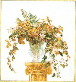 click here to view larger image of Golden Bouquet - Linen (counted cross stitch kit)