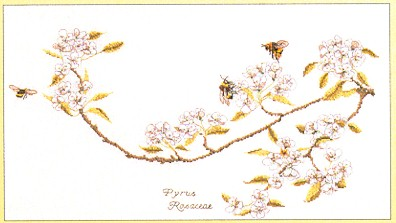 click here to view larger image of Bees And Blossoms - Aida (counted cross stitch kit)