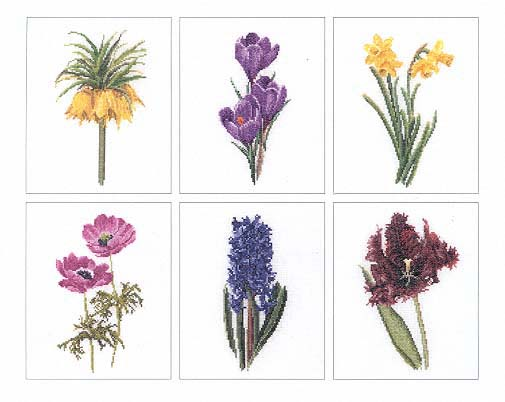 click here to view larger image of Blooming Flowers (Floral Study 3) - Aida (counted cross stitch kit)