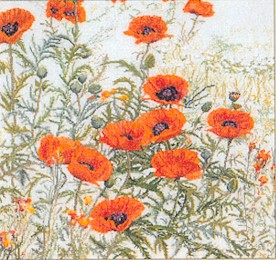 click here to view larger image of Orange Poppies - Aida (counted cross stitch kit)