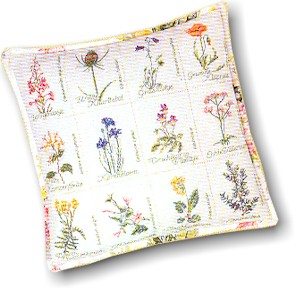 click here to view larger image of Wild Flowers Pillow Case - Aida (counted cross stitch kit)