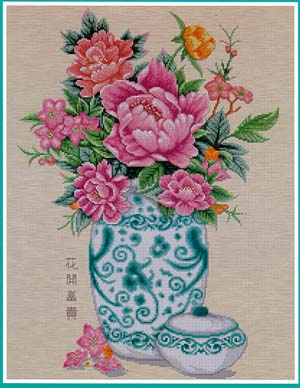 click here to view larger image of Peony in Vase (chart)