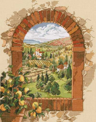 click here to view larger image of Dreaming of Tuscany (counted cross stitch kit)