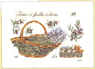 click here to view larger image of Basket of Lavender (counted cross stitch kit)