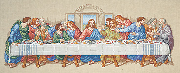 click here to view larger image of Last Supper (counted cross stitch kit)