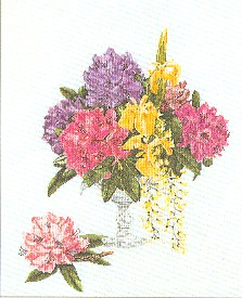 click here to view larger image of Cut Flowers (counted cross stitch kit)