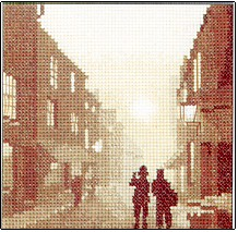 click here to view larger image of On the Beat - Silhouettes (counted cross stitch kit)