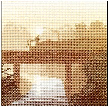 click here to view larger image of Canal Crossing (counted cross stitch kit)