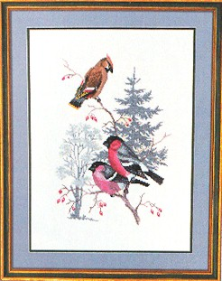 click here to view larger image of Birds (counted cross stitch kit)
