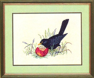 click here to view larger image of Bird in Grass (counted cross stitch kit)